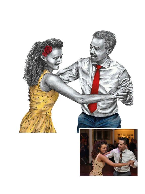 Pencil Portrait - Dancers