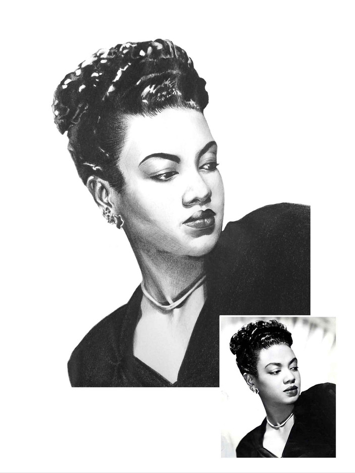 Pencil Portrait - Hazel Scott