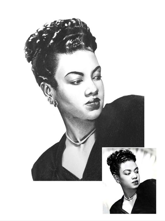 Pencil Portrait - Hazel Scott