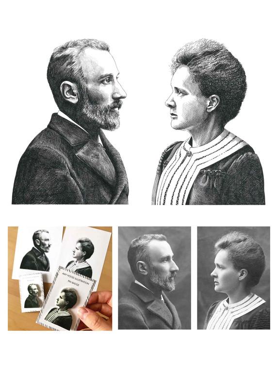 Pen Portrait - Marie & Pierre Curie