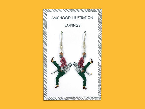 Pimped-up Charleston Lindy Hop Earrings
