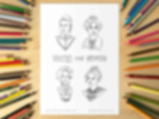 Votes For Women Colouring Sheet