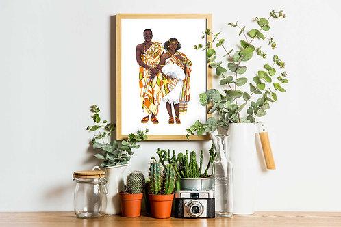 Ghana - Costumes of the World Art Print