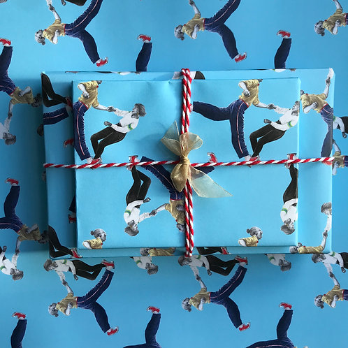Split & Twirl Lindy Hop Gift Wrap Wrapped Present