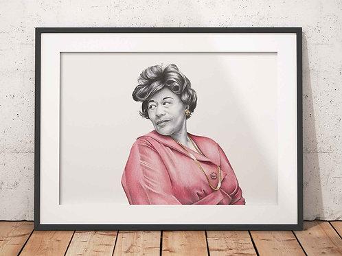 Ella Fitzgerald Art Print Front View