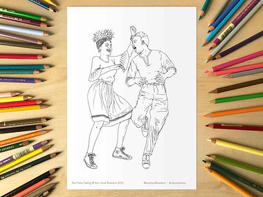 Lindy Hop That Friday Feeling Colouring