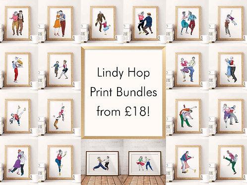 Lindy Hop Art Print Bundle