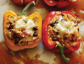 Meatless Mondays - Quinoa Stuffed Peppers