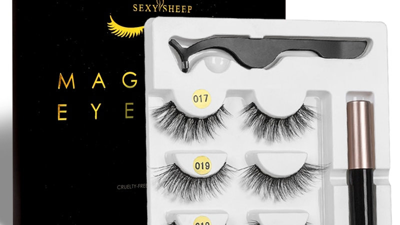 Long Magnetic False Eyelashes With Magnetic Eyeliner