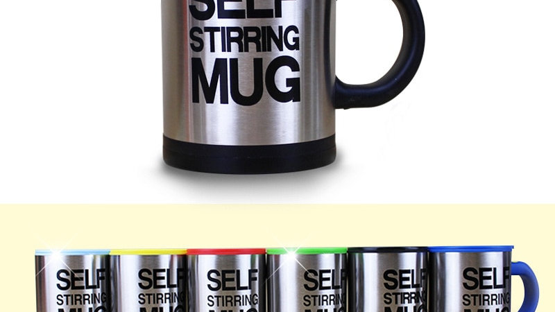 Automatic Self Stirring Mug Stainless Steel Thermal Electric Double Insulated