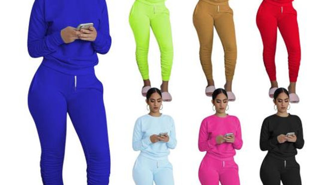 Women 2 Piece Set Stacked Leggings Outfits