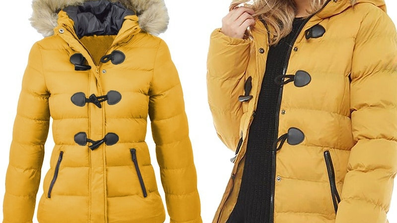 Women's Parka Casual Outwear Military Hooded Fur Coat