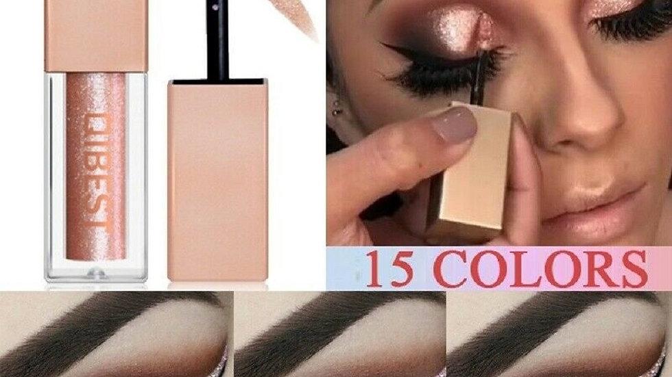 15 Colors Liquid  Waterproof Lasting Shimmer Metallic Professional Eyeshadow