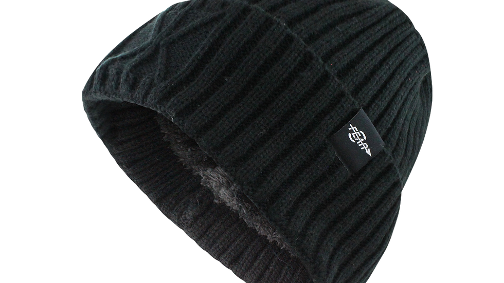 Extreme Warm Black Cuff Winter Sport Skullies Watch Cap Beanie Hat Men Women