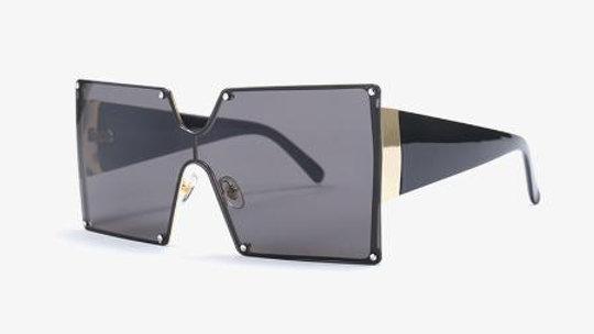 Square Flexible Metal Frame Sunglasses