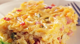 A Pretty Healthy (Convenient) Ham & Cheese Casserole