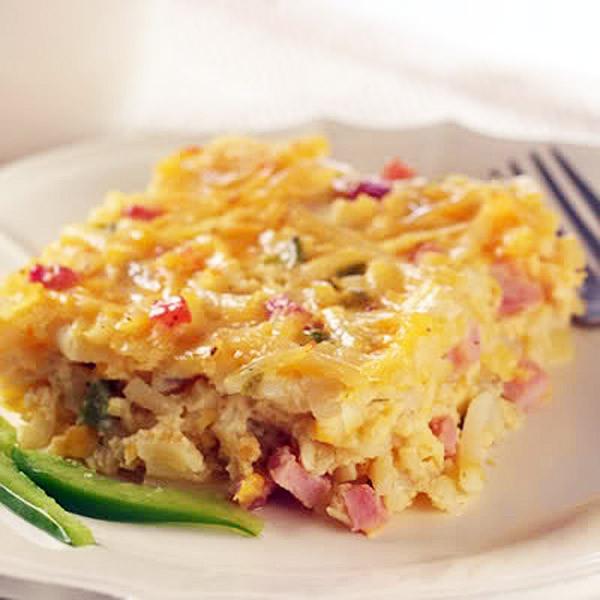 A Pretty Healthy (Convenient) Ham & Cheese Casserole