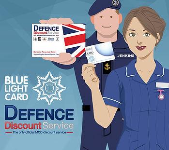 BLUE LIGHT/DEFENCE PRIVILEGE CARD