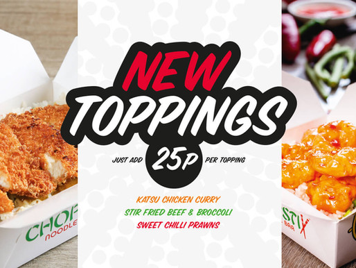 Chopstix Launches Three New Toppings!