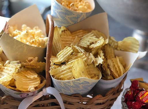 DIY Snacks i pappersstrutar Perfekt till fest, kalas och buffeer Ett enkelt papperspyssel
