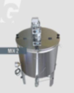 MIX2, αναδευτήρας θερμαινόμεος, δοχείο mixer, 200 kg, γεωργάκης, georgakis