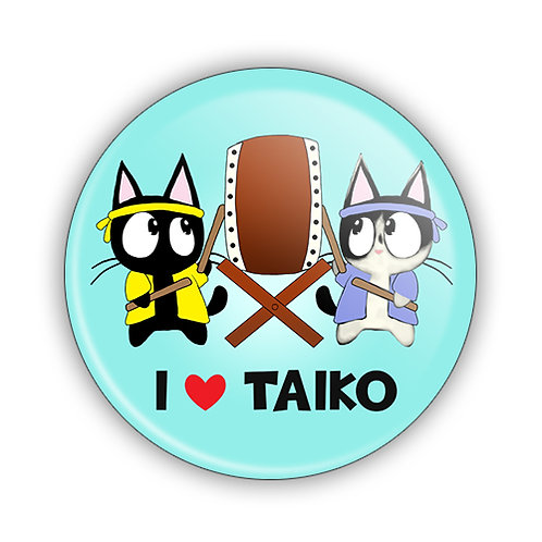 I Love Taiko Button