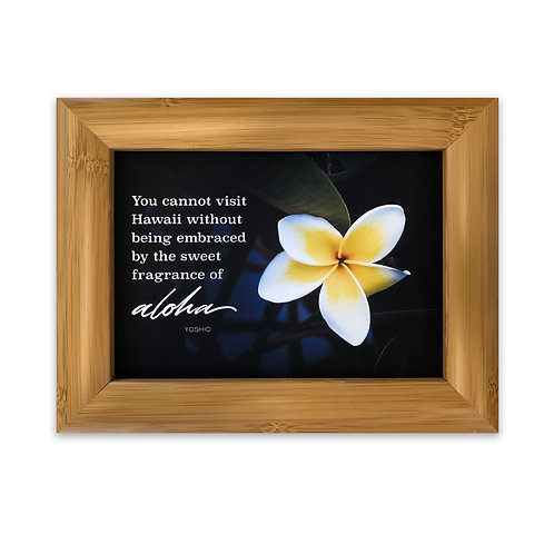 You cannot visit Hawaii without aloha... - Framed Art