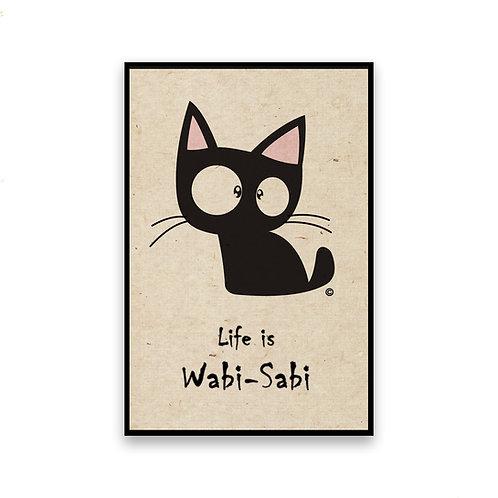 Wabi Sabi Cat Magnet