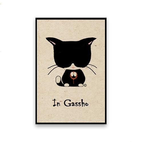 In Gassho Cat Magnet