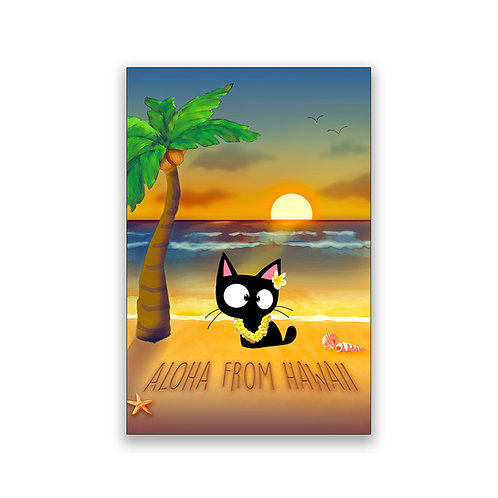 Aloha From Hawaii Cat Magnet