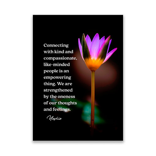 Connecting with... - 5x7 Framed Art - Original Quote by Yoshio