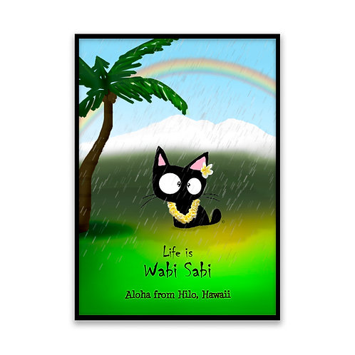Hilo Rain Cat - 5x7 Framed Art