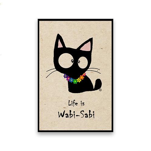 Lei Cat Magnet