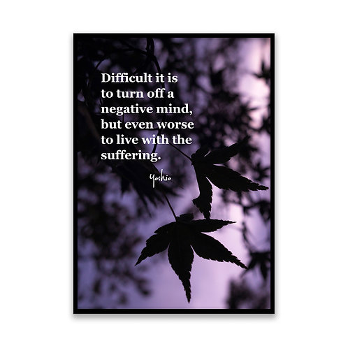 So difficult it is...  - 5x7 Framed Art - Original Quote by Yoshio