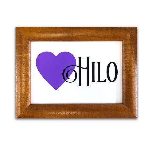 Hilo Love - Koa Wood Framed Art