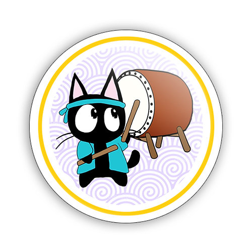 Taiko Cat Button