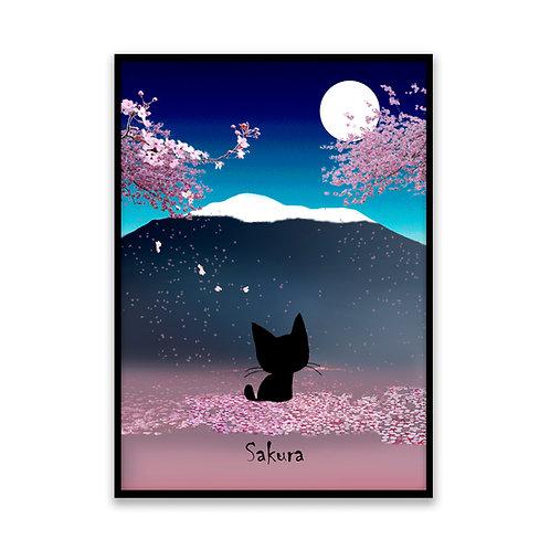 Sakura Night - 5x7 Framed Art
