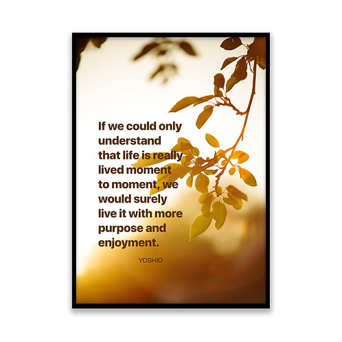 If we could only understand... - 5x7 Framed Art - Original Quote by Yoshio