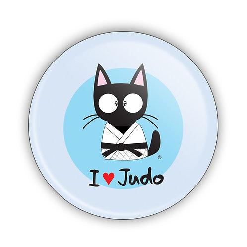 I Love Judo Button