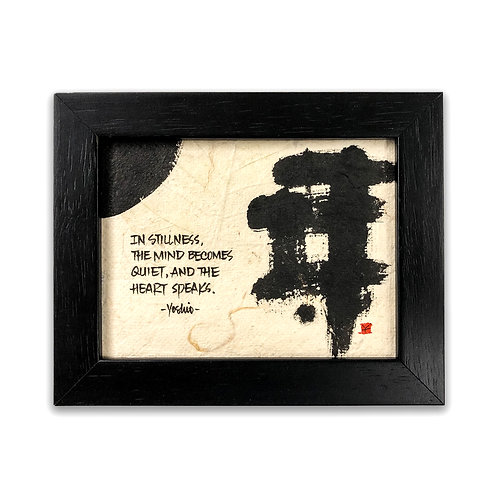 Original Abstract Sumi Ink Brush Painting by Yoshio