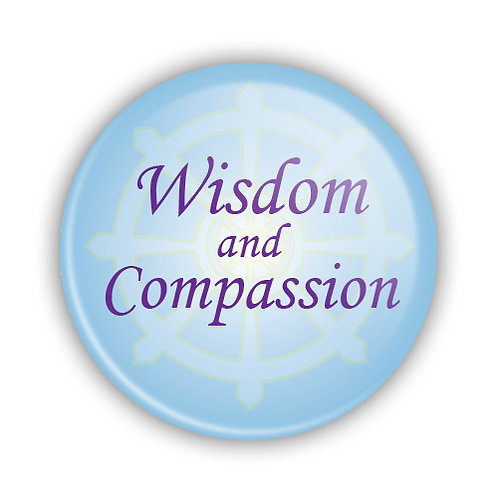 Wisdom & Compassion Button
