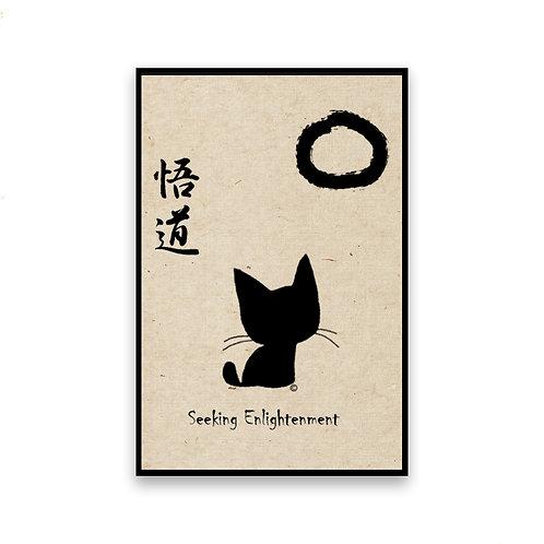 Seeking Enlightenment Cat Magnet