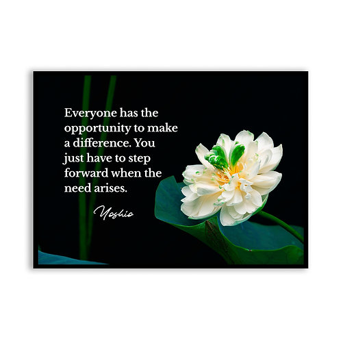 Everyone has the opportunity...  - 5x7 Framed Art - Original Quote