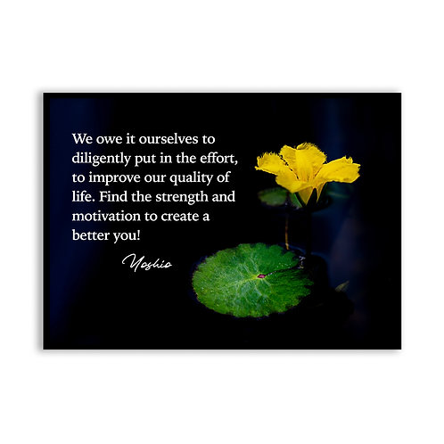 We owe it ourselves to...  - 5x7 Framed Art - Original Quote by Yoshio