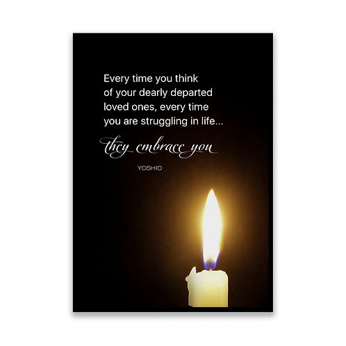 Every time you think... - 5x7 Framed Art - Original Quote by