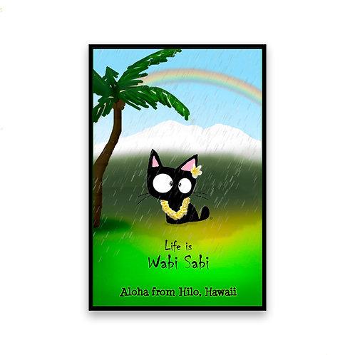 Hilo Rain Cat Magnet
