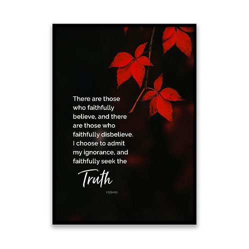 There are those who... - 5x7 Framed Art - Original Quote by Yoshio