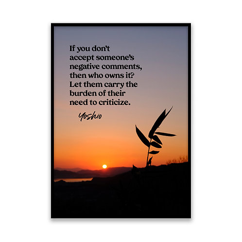 If you don't accept... - 5x7 Framed Art - Original Quote by Yoshio