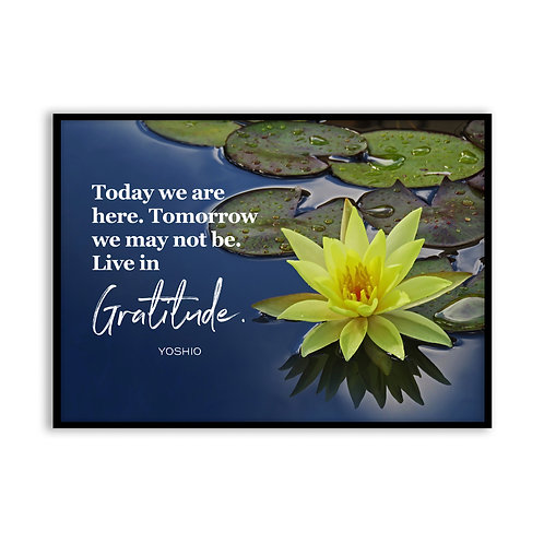 Today we are here... - 5x7 Framed Art - Original Quote by Yoshio