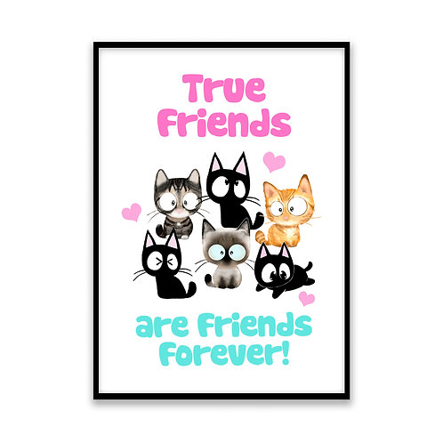 Friends Forever - 5x7 Framed Art